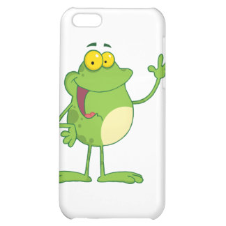Frog Cartoon Mascot Character Waving A Greeting Case For iPhone 5C