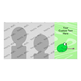 Frog Catching a Fly Personalized Photo Card