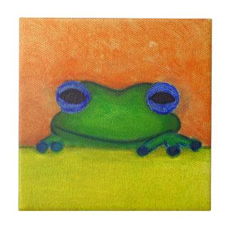 frog ceramic tile