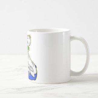 Frog Choking Bird Never Ever Give Up Basic White Mug
