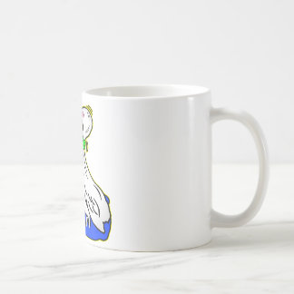 Frog Choking Bird Never Ever Give Up Coffee Mug
