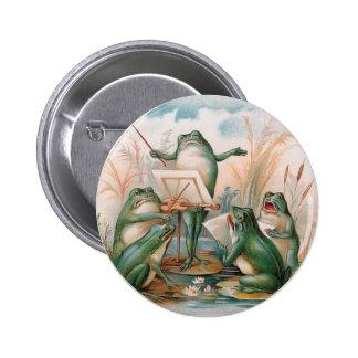 Frog Chorus 6 Cm Round Badge