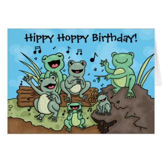 Frog Chorus customisable card