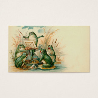"""Frog Chorus"" Gift Tag Business Card"
