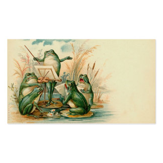 Frog Chorus Gift Tag Business Card Templates