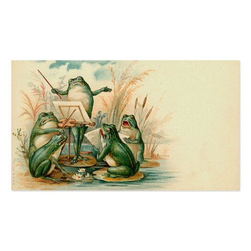 """Frog Chorus"" Gift Tag Business Card Templates"