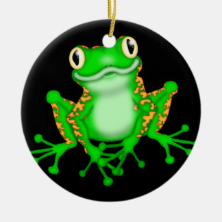 Frog Christmas Holiday Ornament or Doorhanger