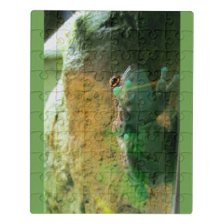 Frog Climbing Glass Jigsaw Puzzle
