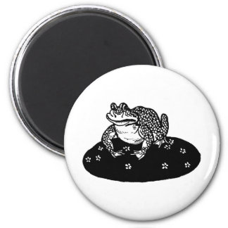 frog-clipart-1 6 cm round magnet