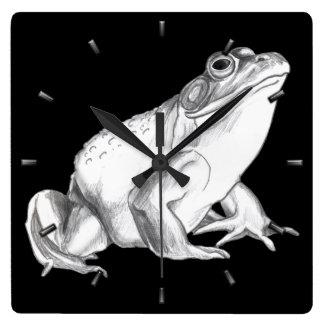 Frog Clock Bull Frog Wall Clocks & Wildlife Decor