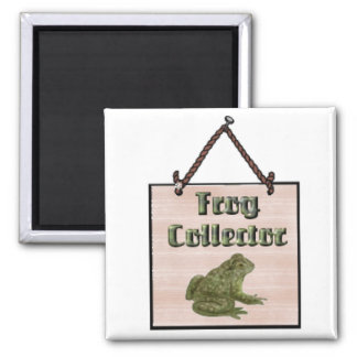 frog-collector square magnet