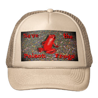 Frog conservation Save the Frogs Hat! Cap