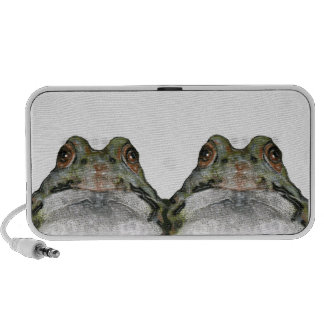 Frog Couple: Color Pencil Art: Wildlife Mp3 Speaker