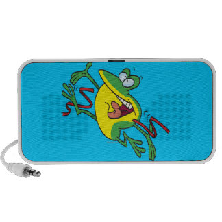 frog crossing finish line cartoon portable speakers