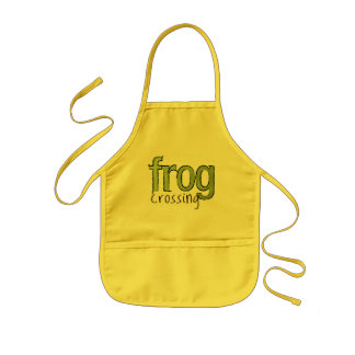 Frog Crossing Kids Apron