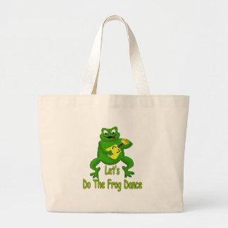 Frog Dance Large Tote Bag