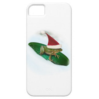 Frog Dashing Through the Snow on a Lily Pad iPhone 5 Covers