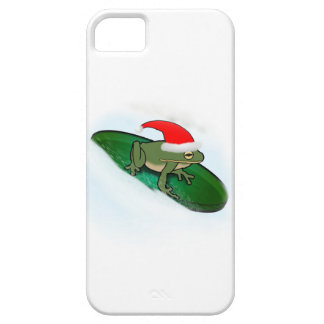 Frog Dashing Through the Snow on a Lily Pad iPhone 5 Cases