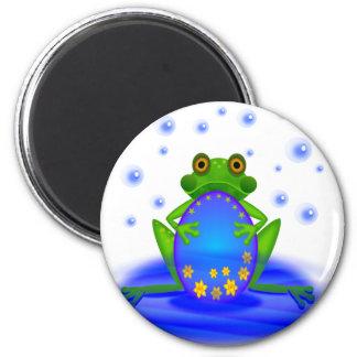 Frog &  Egg 6 Cm Round Magnet