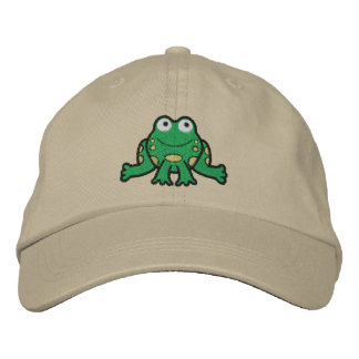 Frog Embroidered Hat