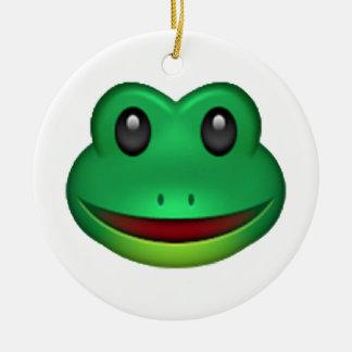 Frog - Emoji Round Ceramic Decoration