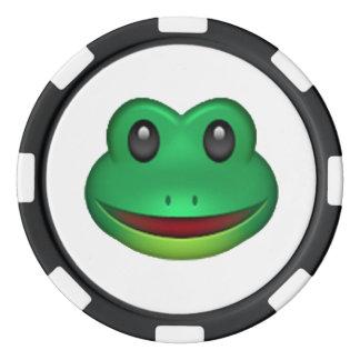 Frog - Emoji Set Of Poker Chips