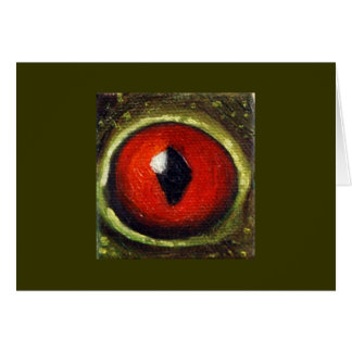 Frog Eye Enlarged Card