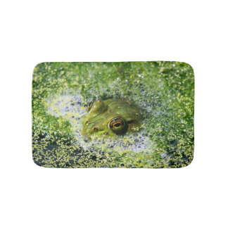 Frog Eyes in a Pond Bath Mats
