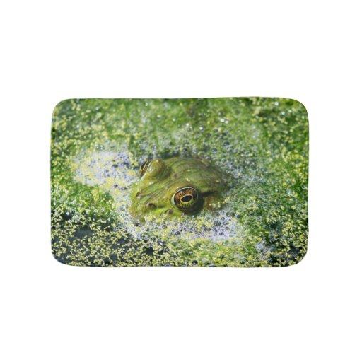 Frog Eyes In A Pond Bath Mats