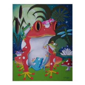frog family poster