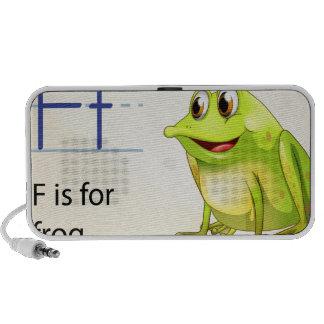 Frog flashcard speakers