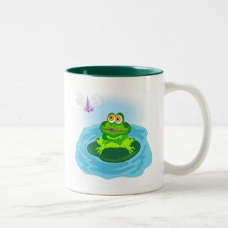 Frog & Fly Two-Tone Mug