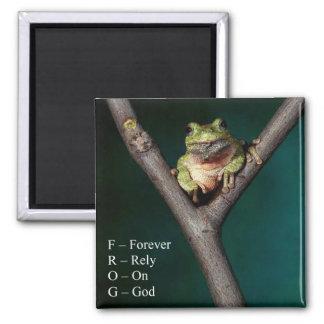 FROG - Forever Rely On God - Magnet