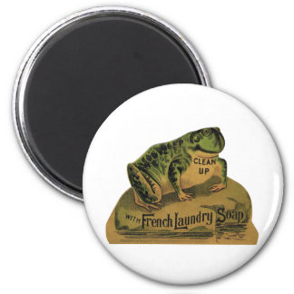 Frog French Laundry Soap 6 Cm Round Magnet