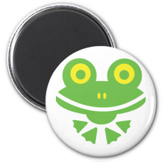 Frog - frog 6 cm round magnet
