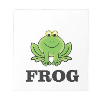 frog frogger notepad