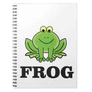 frog frogger spiral notebook