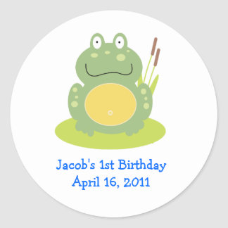 FROG FROGGY Baby Shower or Birthday Favor Stickers