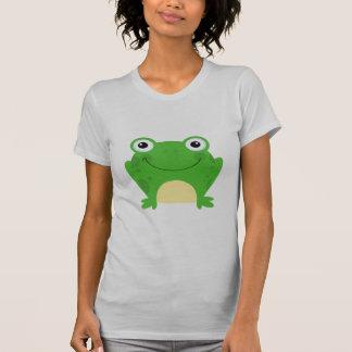 Frog Frogs Amphibian Green Cute Cartoon Animal Tee Shirts