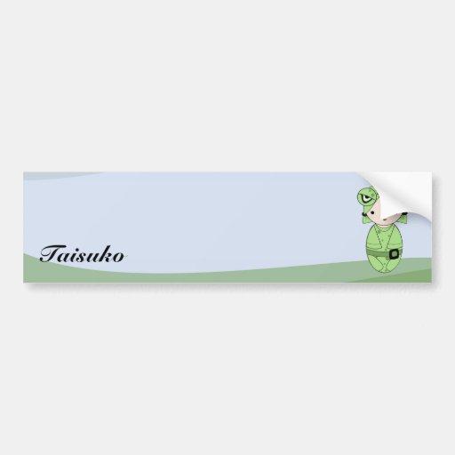 Frog Girl Bumper Sticker