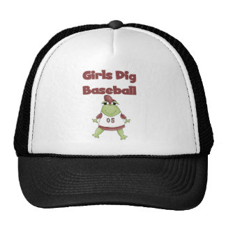 Frog Girls Dig Baseball Tshirts and Gifts Trucker Hat