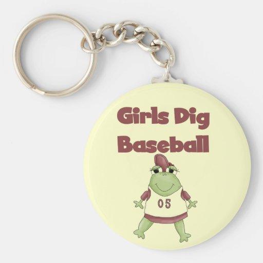 Frog Girls Dig Baseball Tshirts and Gifts Key Chains
