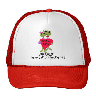 Frog Grandparent of Boy Tshirts and Gifts Cap