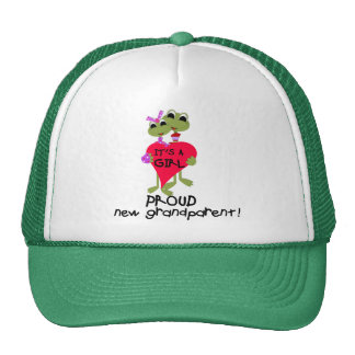 Frog Grandparent of Girl Tshirts and Gifts Cap