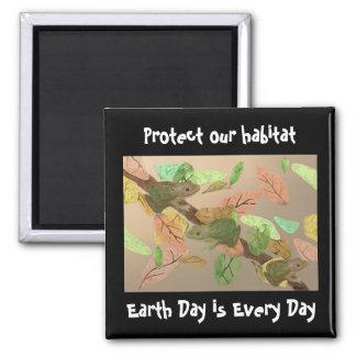 Frog Habitat Magnet