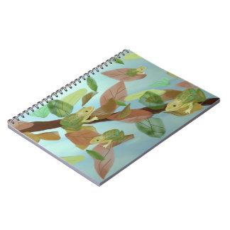 Frog Habitat Spiral Notebooks