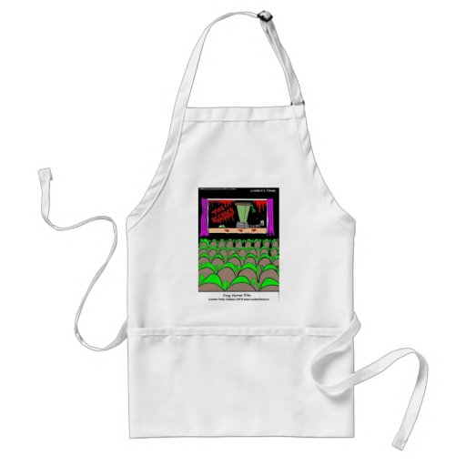 Frog Horror Film Funny Tees Mugs Cards More Apron