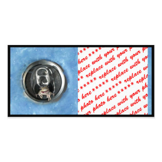 Frog in a  Pop Can (Add Your Text) Personalized Photo Card