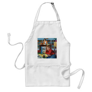 Frog in the Library Aprons