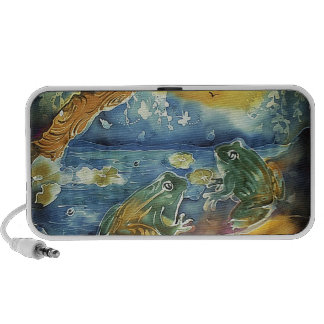Frog in the Moonlight Painting Travelling Speakers